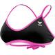 TYR Solid Crosscut Bikini Donna rosa/nero